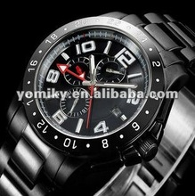 2012 cute full black fancy nice watches made in china Christmas present