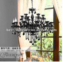 Top Quality Murano Glass Chandelier with Black Crystal, Modern Design Black Crystal chandelier, Contemporary Italian Lighting