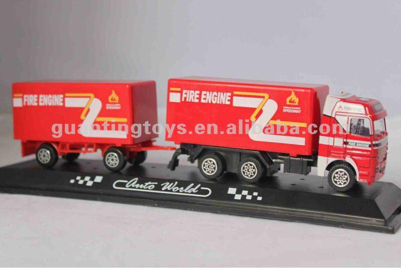 Diecast metal model trucks