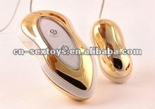 2012 Latest Fashion design 7 Speeds Vibration Golden color Female Sex Bullet