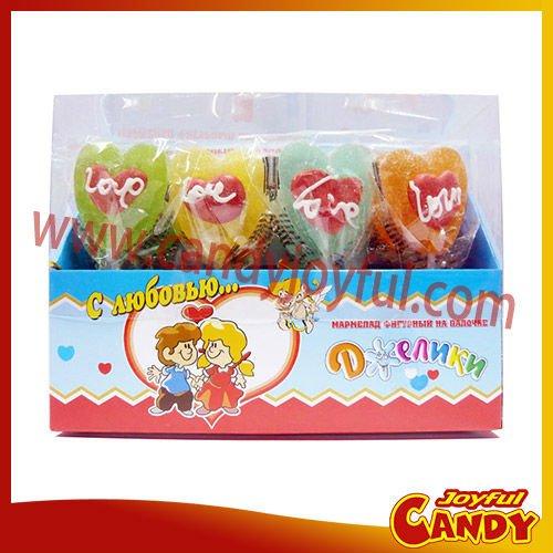 Valentine sweet heart jelly pop, View jelly pop ...