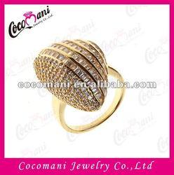2013 New Design Dubai Gold Plated Diamond Ring Jewelry