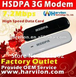 USB 2.0 3G WCDMA 7.2Mbps HSDPA Wireless Modem Dongle Network Card Adapter Stick