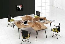 Modular office workstation furniture with wood desktop /low partition/steel frame