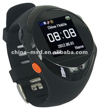 Newest developed Flexible personal GPS tracker watch phne PG88 with the user of childer, elder and disable people