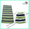 Microfiber reactive printing drawstring beach towel bag pattern