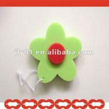 2013 High-durable colorful lovely soft bath sponge flowers for kids