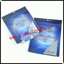 zip top whitening facial mask packing laminated plastic pouch