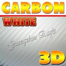 Beyaz renk 3D Araba vücut etiket kabarcık ücretsiz sahip/Boyutu: x 30 metre 1.52/toptan çin