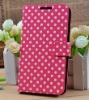 Mobile phone case phone accessories Polka dot wallet leather case for samsung galaxy note 2 case
