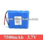 External Li-ion Rechargeable Battery Pack 3.7v 7500mAh with High Quality