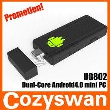 China Mini PC UG802 1GB RAM Dual Core RK3066 1.6GHz MK802 III android pc