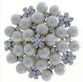 venta al por mayor de diamantes deimitación de la perla deimitación broche de lainvitación de la boda