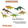 promocionales de plástico tpr dinosaurio juguetes para los niños