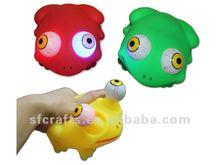 funny toy child soft vinyl flashing frog