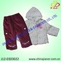 الشتاء طفلة 2 قطعة تناسب مجموعة، ملابس الطفل، ملابس اطفال