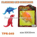 promotional TPR flashing LEDtoys of plastic dinosaur toys
