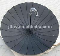 Extra large mens Pongee aluminum 24K umbrella walking stick