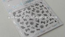 3D Glitter Nail Art Logo Design Label Decorative DIY Decals Seals Stickers A