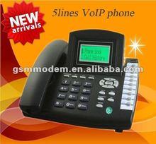 best selling 5 line sip phone/ip phone/wifi sip desk phone