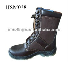 Dual Density PU Sole Slip Resistant Military Footwear Long Army Boots 2012