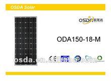 150W solar energy mono solar panel price per watt