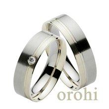 18 carati in oro bianco anello di nozze 2015 moda anello nuziale anello di diamanti per le coppie hg179