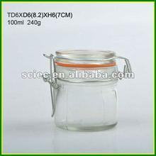 100ml Clip Top Glass Preserving Jars