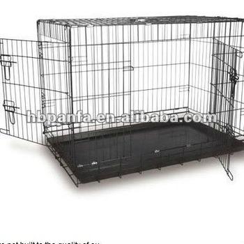 "Lightweight Economy Cages/black dog carrier/42"" Cage DOG/Black epoxy coated"