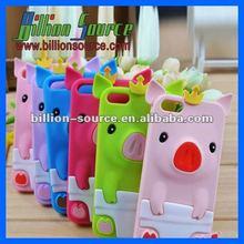 Novelty animal silicone cartoon mobile phone case
