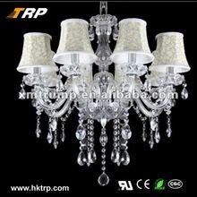 Decorative new modern white crystal chandelier