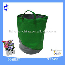 Eco-friendly Felt Green Laundry Bag with handle