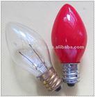 Candle C7 plug night light colour bulbs