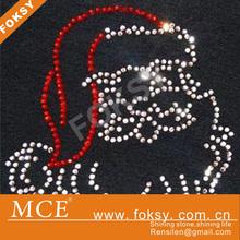 2014 lovely Santa Claus pattern fashion hotfix motif
