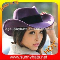 Wool felt Purple cowboy hat