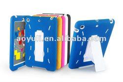 phone case for ipad mini, PC+ silicon Robot case for ipad mini