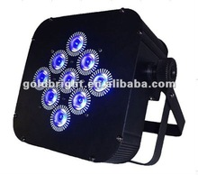 Moving led flat par, 9pcs 3w battery powered par led flat par dj lighting