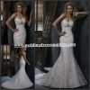 WD1539 Wholesale Perfect Sweetheart Backless Lace Cover Bling Mermaid Bridal Romantic Angel Wedding Dress