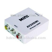 MINI AV/CVBS/RCA/Composite to HDMI Converter, AV2HDMI Converter