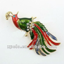 2012 Charm Colorful Phoenix Animal Metal Brooch Pins