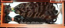 Medium Brown Slavic Hair Ponytails, Russian Remy Human Hair, Lady Hair Ponytails
