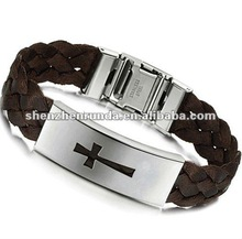Fashion Vners braided bracelet wholeslae high quality brown leather wristband Manufacturer & Factory & Supplier