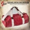 White webbing fashion cotton canvas travel bag travel duffle bag