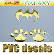 Hot sale quality popular car decoration 3D pvc sticker sliver,red,gold for available