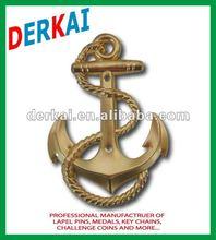 metal golden anchor emblem(dk-062)