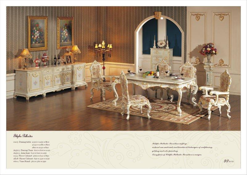 Estilo franc s muebles de comedor antiguo barroco - Muebles estilo barroco moderno ...