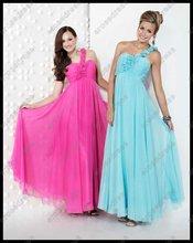 Chiffon Sweetheart Long 2012 One Shoulder Open Back Prom Dress PS-1233