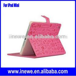 Cartoon design Folio leather case for iPad Mini