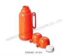 New Trend Orange Plastic Vacuum Thermos Hot Water Flask 1800ml