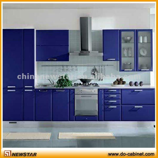 Modern design blue kitchen furniture view modern design for Kitchen furniture design photos